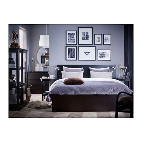 ikea malm bedroom malm bed frame high w 4 storage boxes black brown lur 246 y