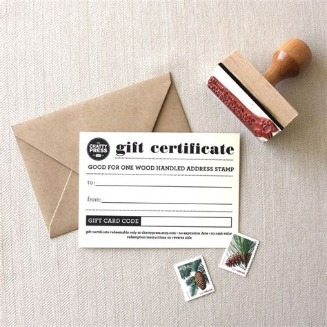 Are Gift Cards Returnable - return address st gift card the chatty press