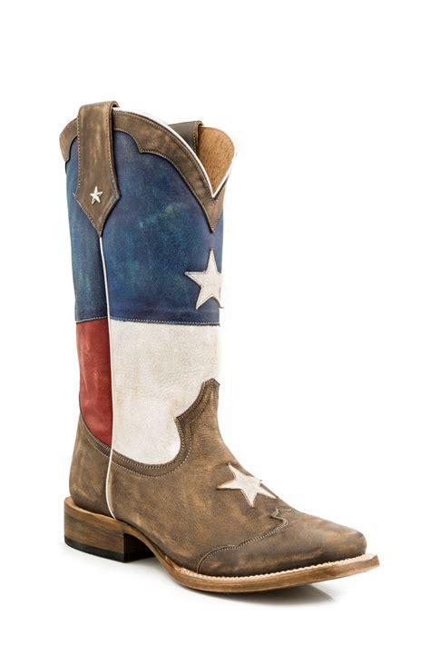 mens roper cowboy boots nib roper mens cowboy boots white blue leather
