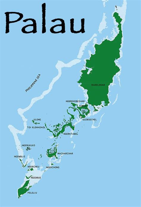 palau babeldaob island map palau islands map mapsof net