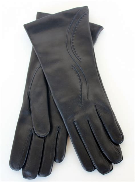 Handmade Leather Gloves - the quot touch quot handmade black leather gloves for