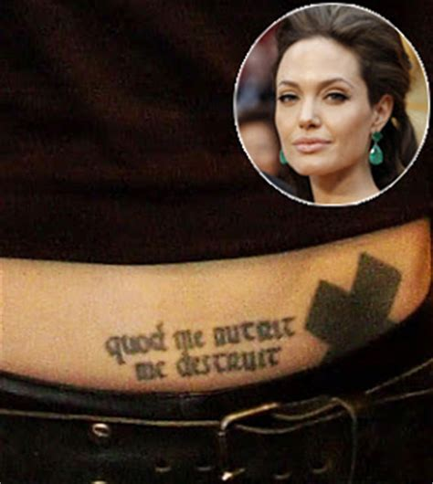 angelina jolie tattoo quod me nutrit tattoo removal angelina jolie tattoos and meanings
