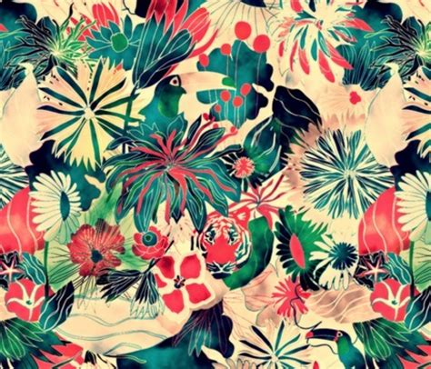 jungle pattern fabric the patternbase jungle by demigoutte on spoonflower com