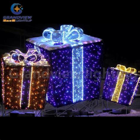 gift box light xmas holiday decoration light shopping mall