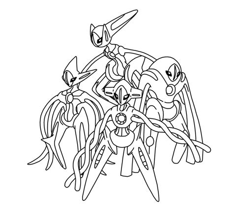 pokemon deoxys coloring page images pokemon images