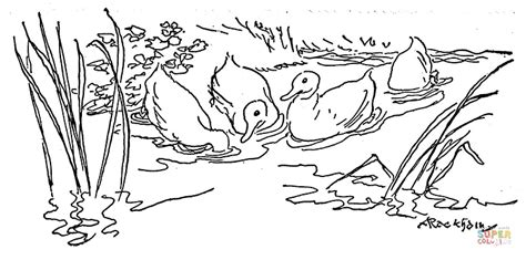 coloring pages of ducks in a pond pond coloring download pond coloring