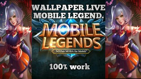 tutorial wallpaper  mobile legend  work youtube