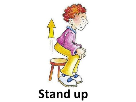 imagenes stand up classroom language cards routine and discipline