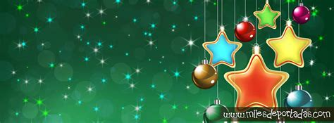 imagenes bonitas de navidad para portada de facebook portadas para facebook feliz navidad adornos estrellas