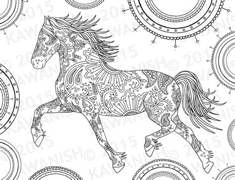 pony coloring pages for adults printable horse mandala coloring pages helloguanster com