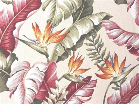 Upholstery Fabric Hawaii by Thick Tropical Hawaiian Barkcloth 100 Cotton Upholstery