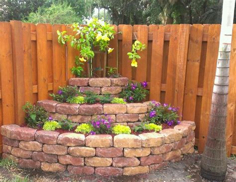 fenced backyard landscaping ideas corner landscaping landscaping pinterest gardens
