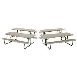 Lifetime Folding Picnic Table Lifetime 8 Folding Picnic Table Putty 4 Pack Sam S Club