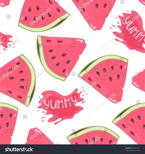 juice pattern vector slices watermelon seamless pattern juice drop stock vector