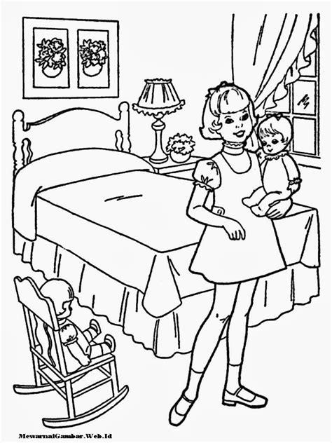 Mewarnai Gambar Anak Perempuan | Mewarnai Gambar