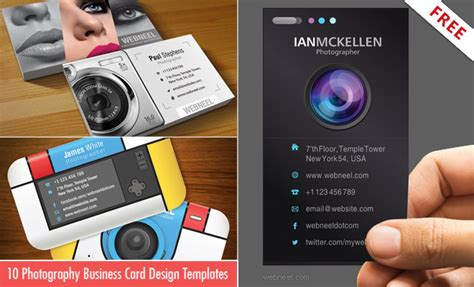 photographer id card template 10 business card design templates for photographers