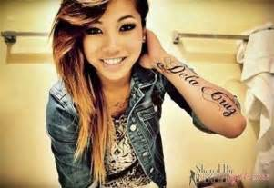 cute with lettering tattoo on arm tattoo com