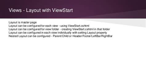 viewstart layout asp net mvc training