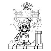 8 Bit Mario Coloring Pages by 8 Bit Luigi Mario Bros Coloring Pages Sketch