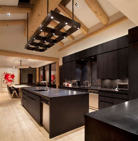 Black Kitchen Light Fixtures Black Kitchen Furniture And Edgy Details To Inspire You