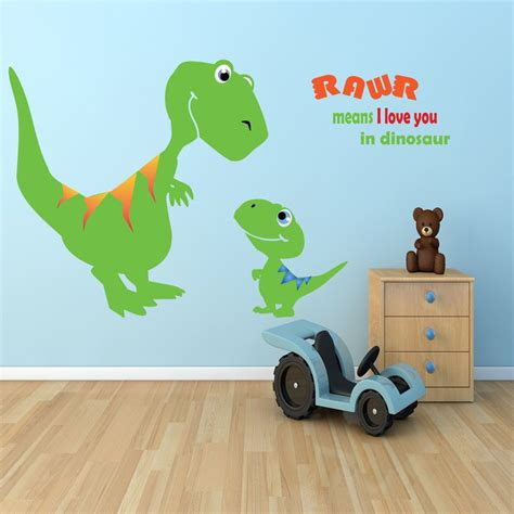 dinosaur wall decals for rooms children dinosaur wall decal boys room dino t rex vinyl wall bedroom 54 99 via etsy