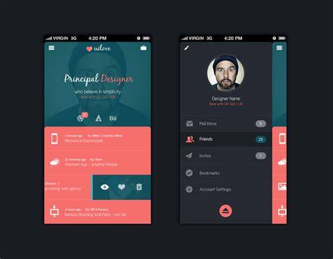 design application photo mobile app design template psd templates gfxnerds ux