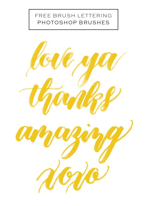 brush lettering tutorial photoshop brush archives happy hands project