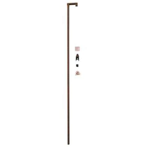 prime line 60 in bronze sliding door security bar lock s