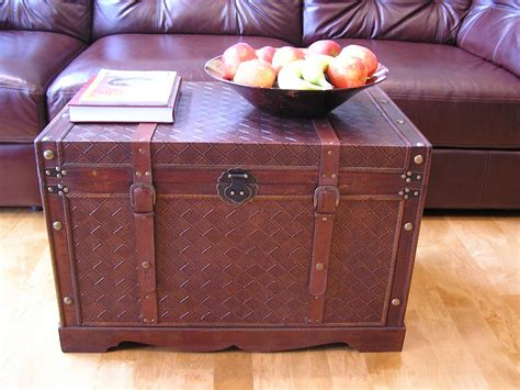 Home Decor Trunks Georgetown Wood Storage Trunk Wooden Chest Set Of Two Ebay