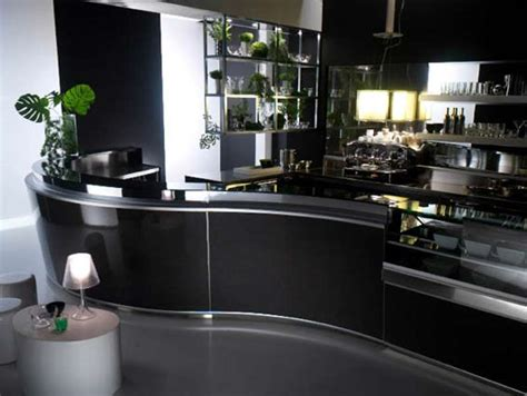 agencement bar comptoir zeronove black