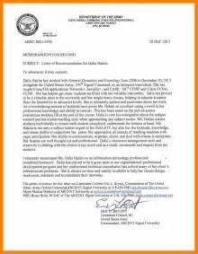 Recommendation Letter For Officer School 8 Memorandum Of Recommendation Target Cashier