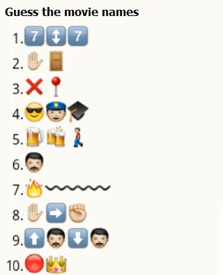 whatsapp quiz film name guess the movie names from whatsapp emoticons 4