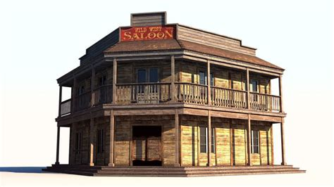 3D model Wild West Saloon   CGTrader