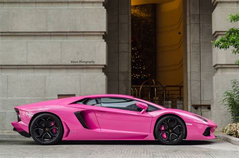 Pink And Black Lamborghini Lamborghini Aventador Finished In Bright Pink Gtspirit