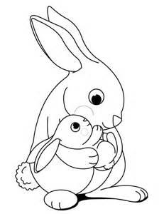 bunny rabbit cartoon coloring home