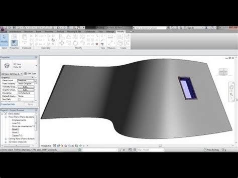 tutorial revit estructural ventanas en muro inclinado curvo en revit como se hace