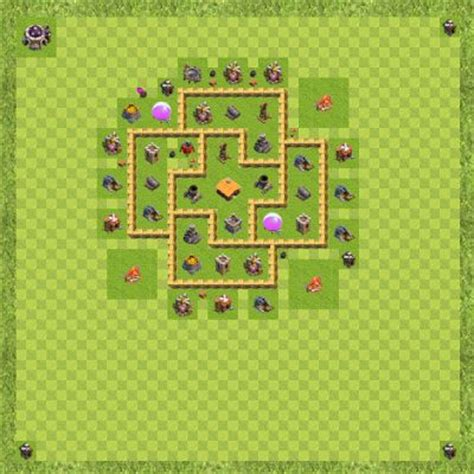 layout level 6 town hall war base town hall level 6 by rifky adhitya war th 6