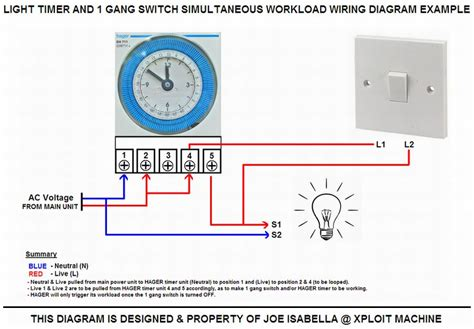 electrical timer wiring diagram timer switch wiring