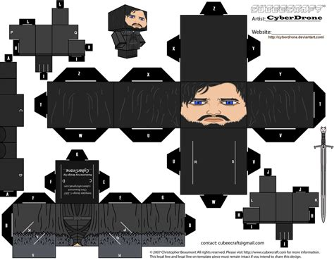 Cubee Papercraft - cubee jon snow by cyberdrone on deviantart