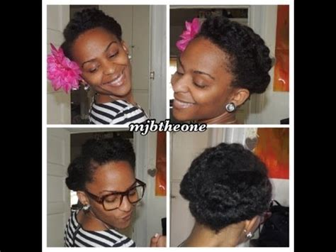 modern tuck and roll hairstyle natural hair tutorial 2 simple stylish roll tuck pin