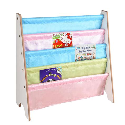 wooden sling canvas bookshelf magazine children