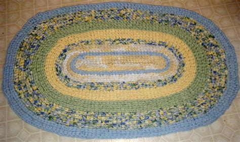 blue yellow rug blue yellow and green handmade rag rug for etsy