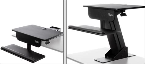 sit stand desk adjustable height standing computer workstation