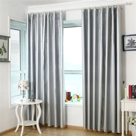 light silver curtains silver polyester light insulation thermal full blackout