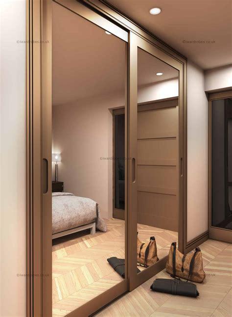 fitted mirror sliding door wardrobe modern