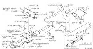 2006 Nissan Altima Exhaust System Diagram 2006 Nissan Altima Replacement Exhaust Parts At Caridcom