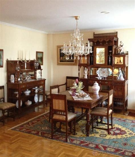 conjunto muebles comedor madera cerezo principios siglo