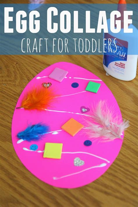 collage crafts for toddler approved easter egg collage craft for toddlers