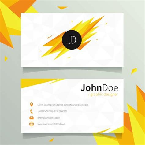 designer name card template graphic designer name card template free vector
