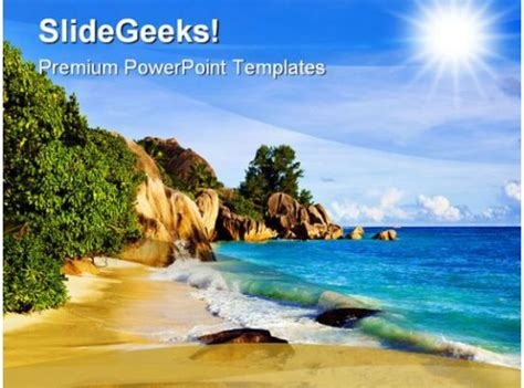 tropical beach nature powerpoint background  template  graphics